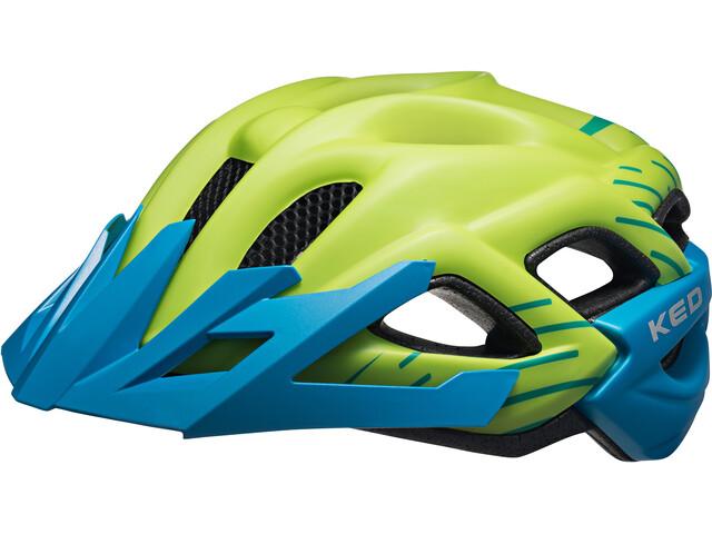 KED Status Jr. Helmet Kids green blue matt